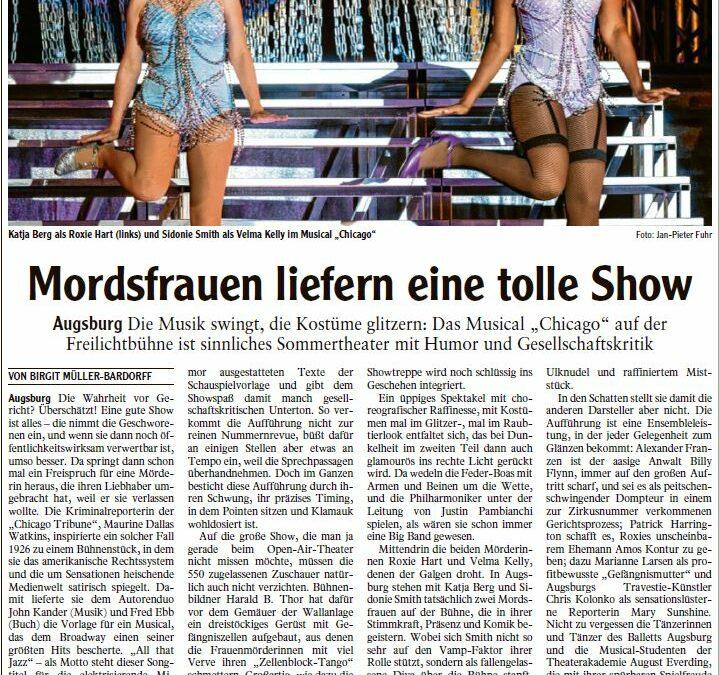 """Grandiose Premiere von """"Chicago"""" auf der Freilichtbühne in Augsburg"""